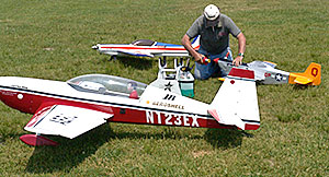 Model Aircraft fuelled up for demonstration